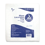 Minor Laceration Tray Kit with instruments  Latex Free Sterile