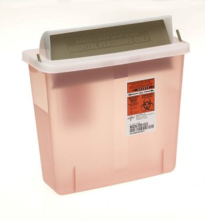 5qt Biohazard Patient Room Sharps Container (for SWD85161H)  Case of 20