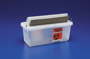 2qt Biohazard Patient Room Sharps Container (for SWD85161H)