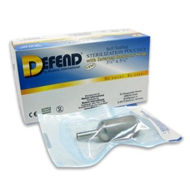 "Defend 200 2.25"" X 2.75"" Sterilization Pouches with indicator tape"